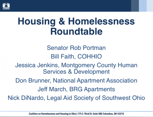 Housing & Homelessness Roundtable with Sen. Portman