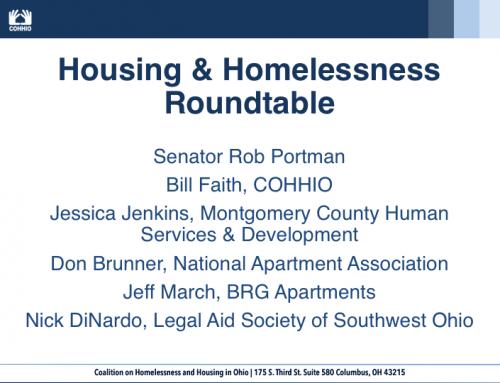 Housing & Homelessness Roundtable with Sen. Portman
