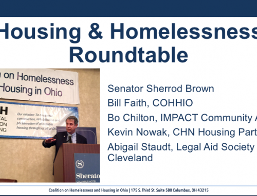 Housing & Homelessness Roundtable with Sen. Brown